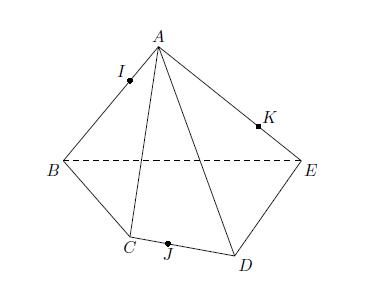 Géométrie 3D, volume, plan, section, droites, terminale
