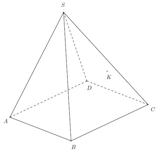 Géométrie 3D, tétraèdre, section, plan, droites, terminale