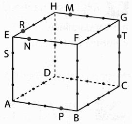 Géométrie 3D, cube, section, plan, droites, seconde