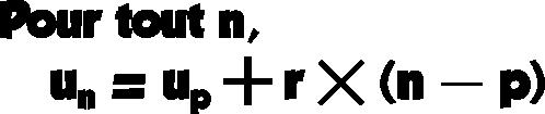 suite arithmétique formule explicite