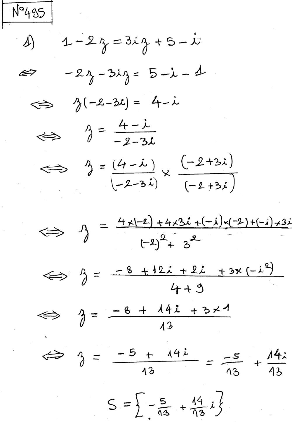 Complexes - Equations, premier et second degré, conjugué ...
