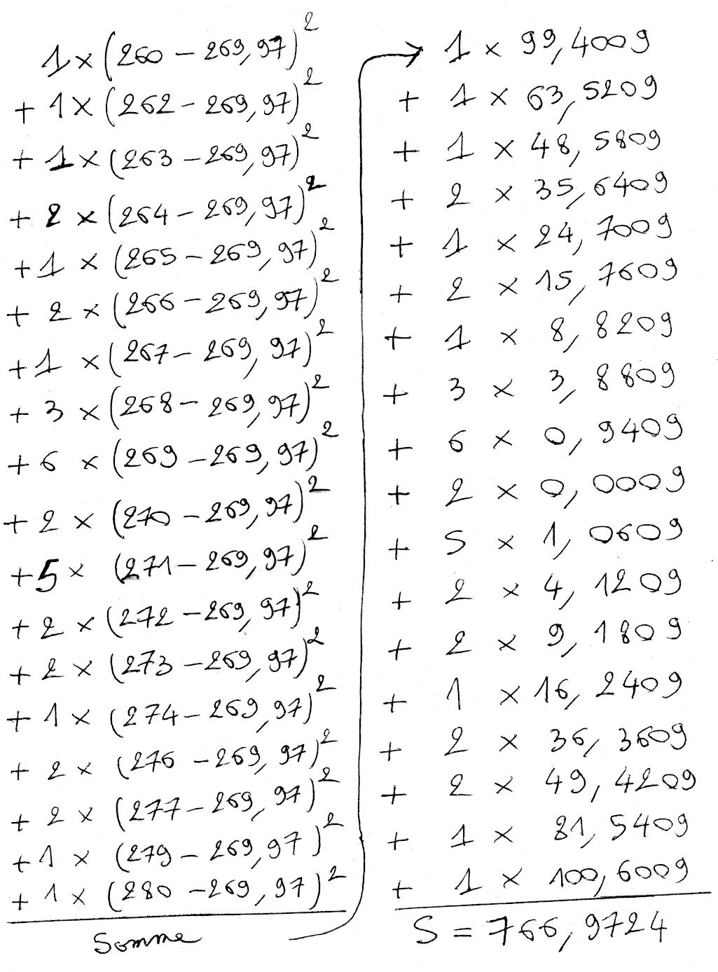 Statistiques, quartiles, moyenne, variance, écart-type, première, calculs