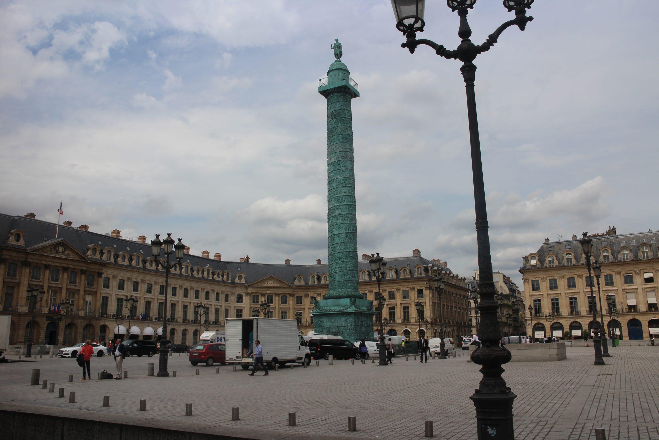Produit scalaire, Al-Kashi, triangles, angles, parallélogramme, Place Vendôme, Paris