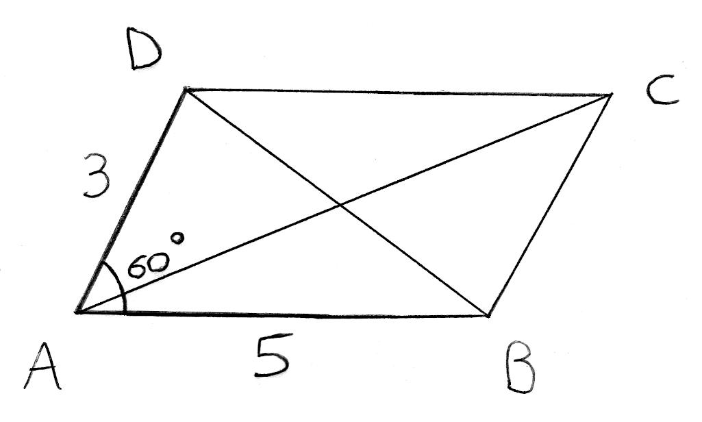 Produit scalaire, Al-Kashi, triangles, angles, parallélogramme