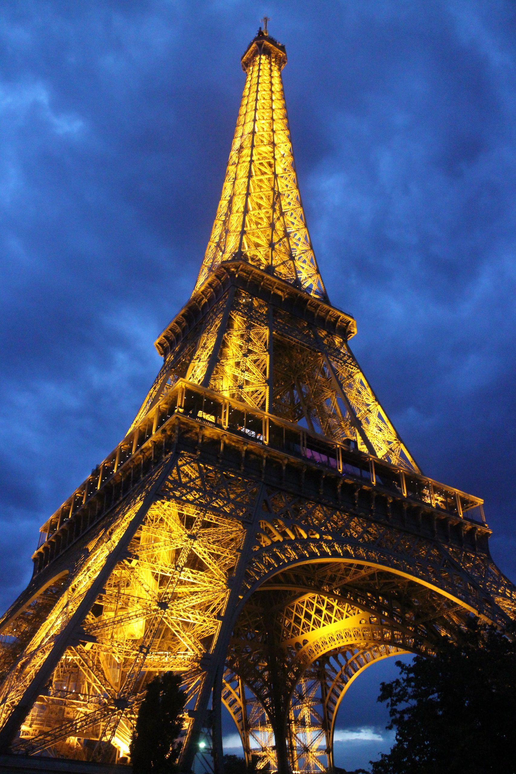 Vecteurs, calculs, expressions, repère, points alignés, première, Tour Eiffel, Paris