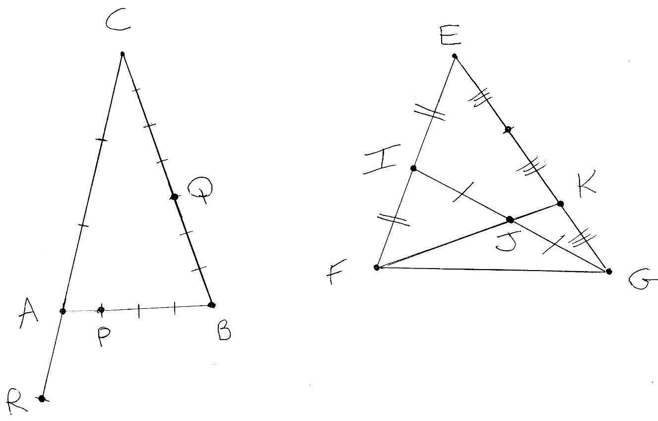 Vecteurs, triangles, formules, repère, points alignés, première